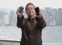 Galaxy S4 vs iPhone 5: le crash test