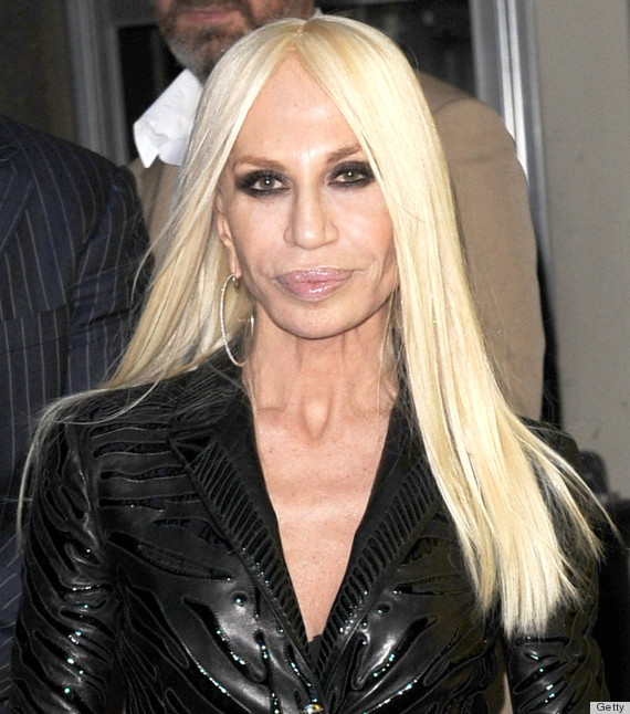 donatella versace face
