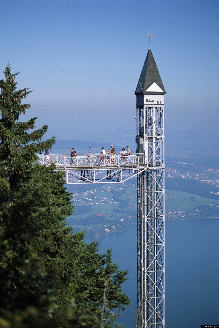 tallest outdoor elevator