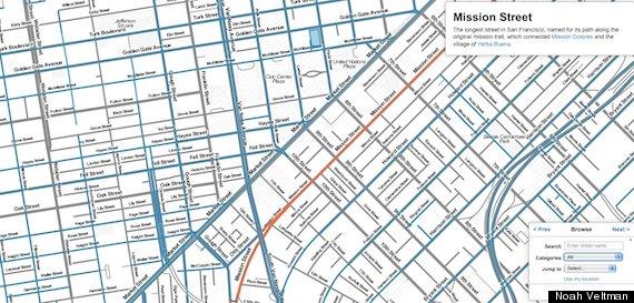 San Francisco Street Names Map Reveals Citys Hidden History HuffPost