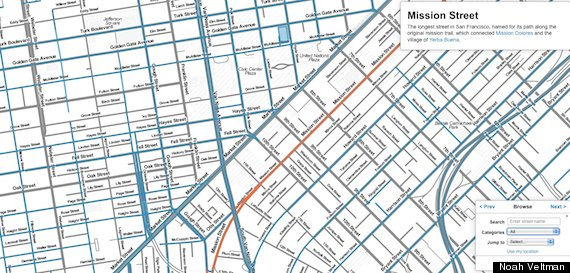San Francisco Street Names Map Reveals City\'s Hidden History | HuffPost