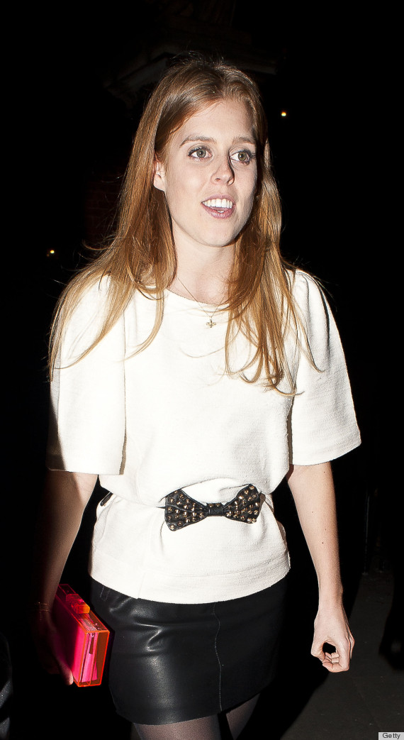 princess beatrice in leather