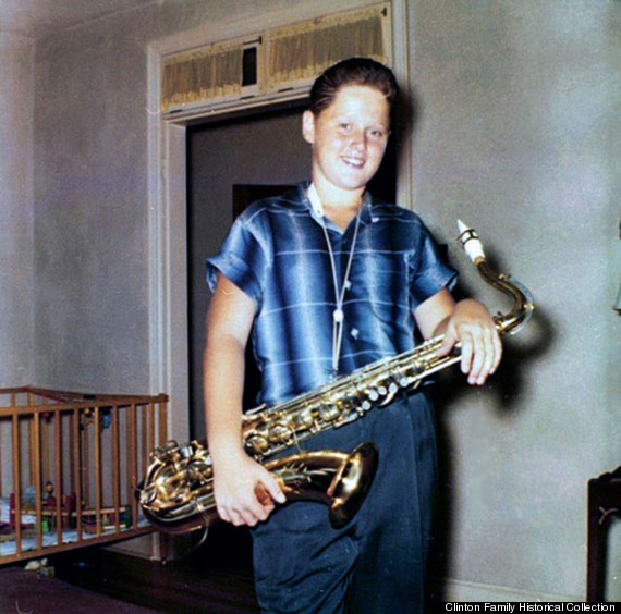 bill clinton saxaphone