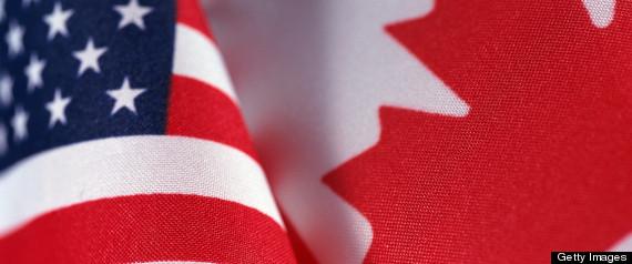 CANADIAN FLAG UNITED STATES FLAG