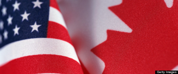 Canadian Flag United States Flag