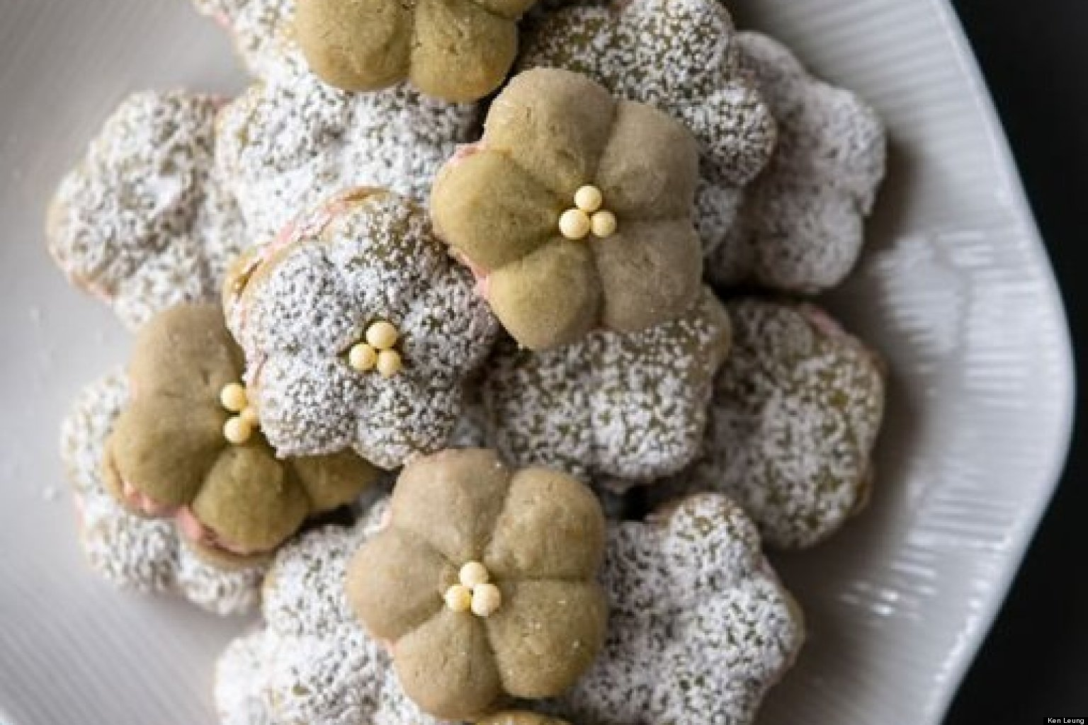 Blossoms Afar - Matcha Almond Cookies   HuffPost