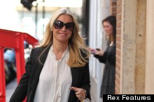 Denise Van Outen Juggles TWO Designer Handbags