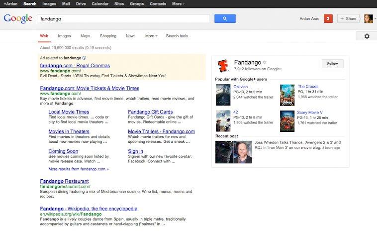 google plus google search