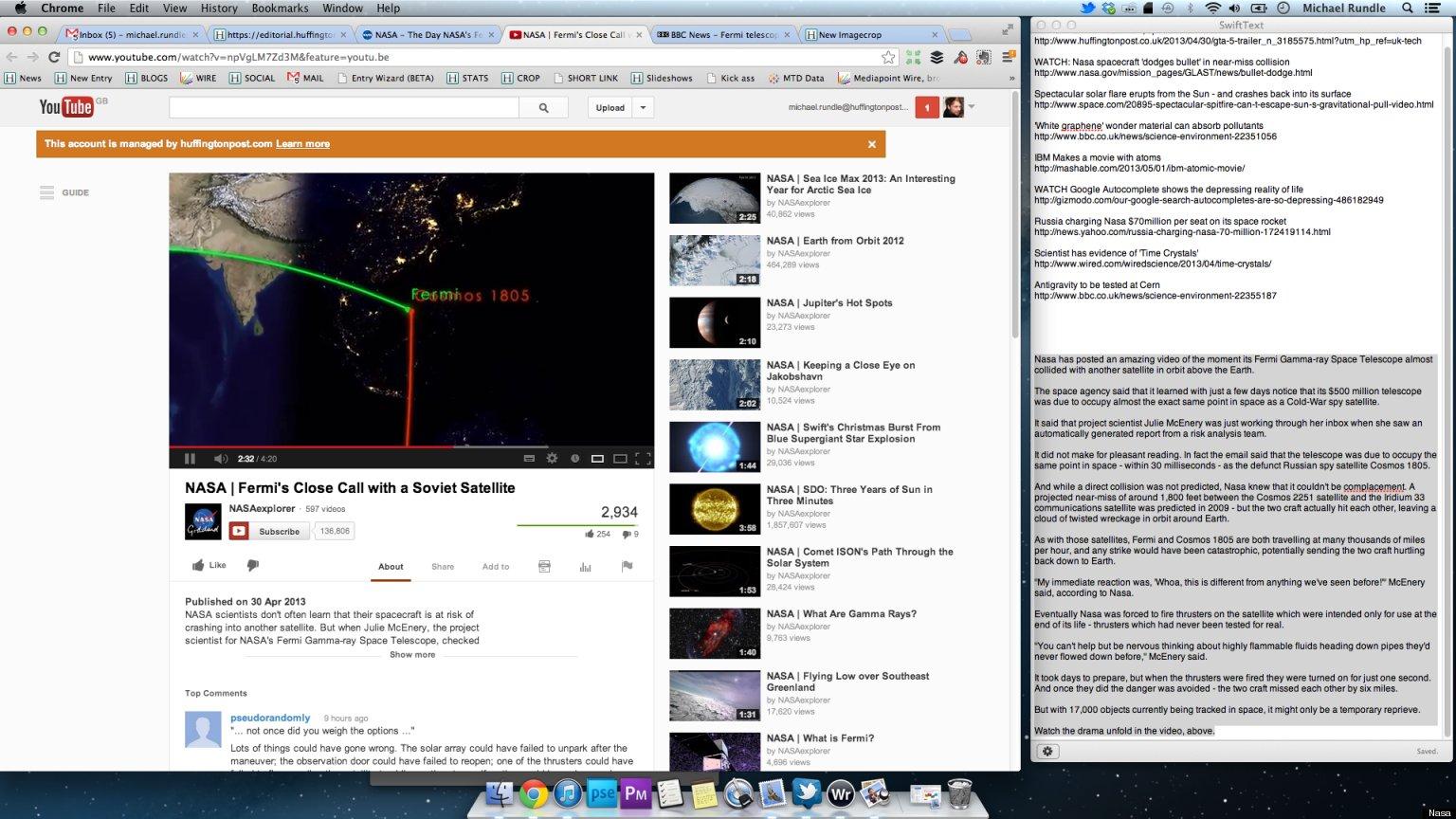 watch the moment nasas 500m fermi space telescope almost