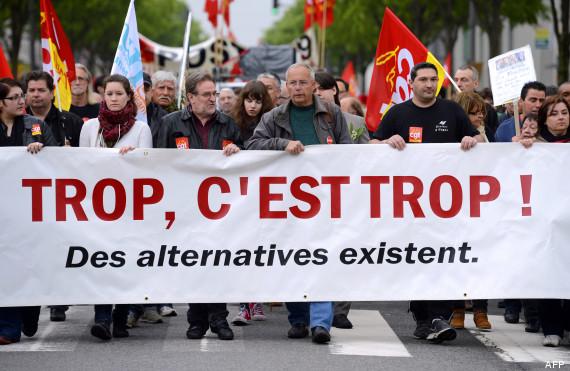 Lannion, une action des syndicats CGT et FSU devant l'ancien tribunal (OF) dans Syndicalisme