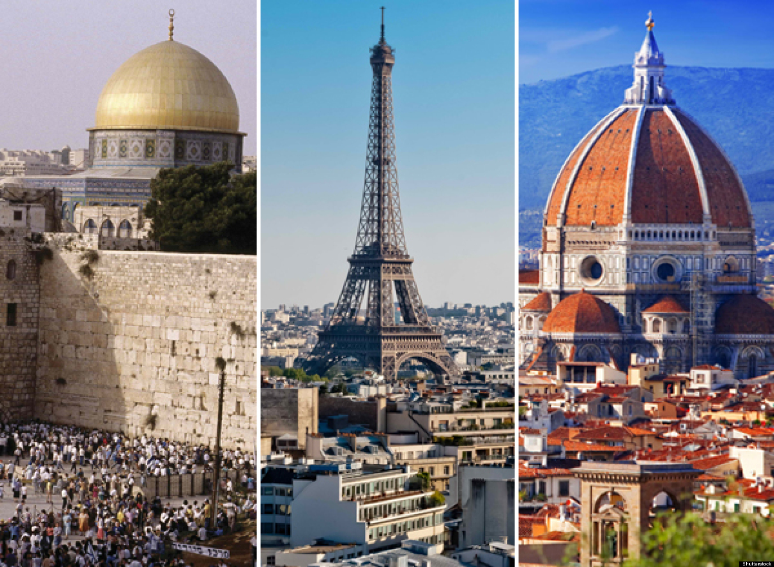 Paris, Jerusalem And Florence: The Vacation Destinations
