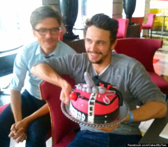 Sensational James Franco Tweets Naughty Birthday Cake Accepts Award At Miami Funny Birthday Cards Online Overcheapnameinfo