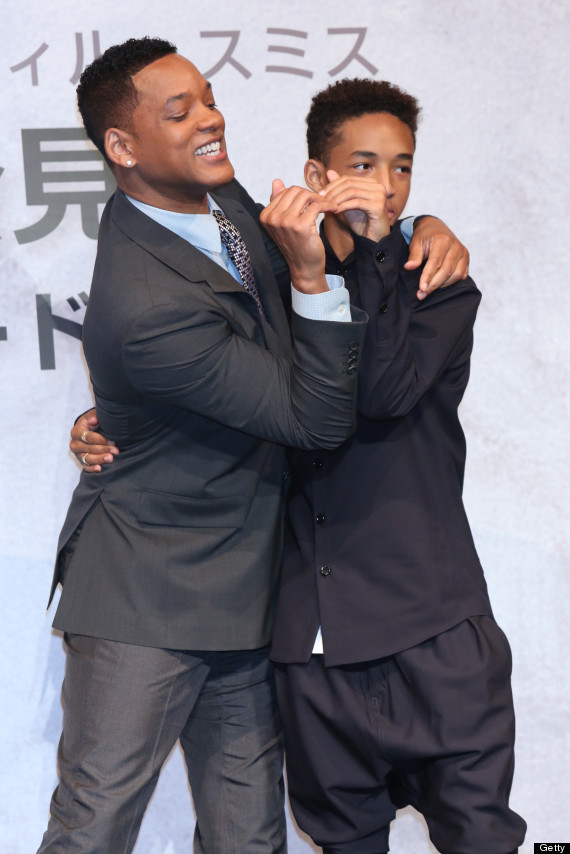 Will Smith And Jaden Smith Kiss