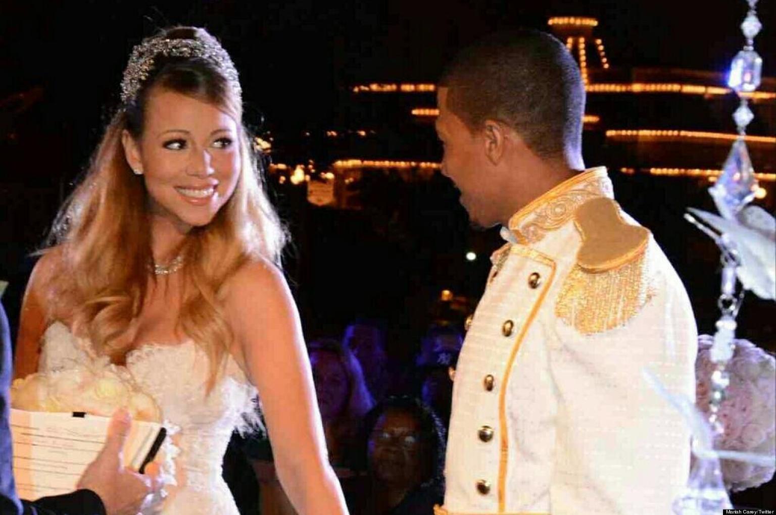 mariah careys wedding dress american idol judge gets