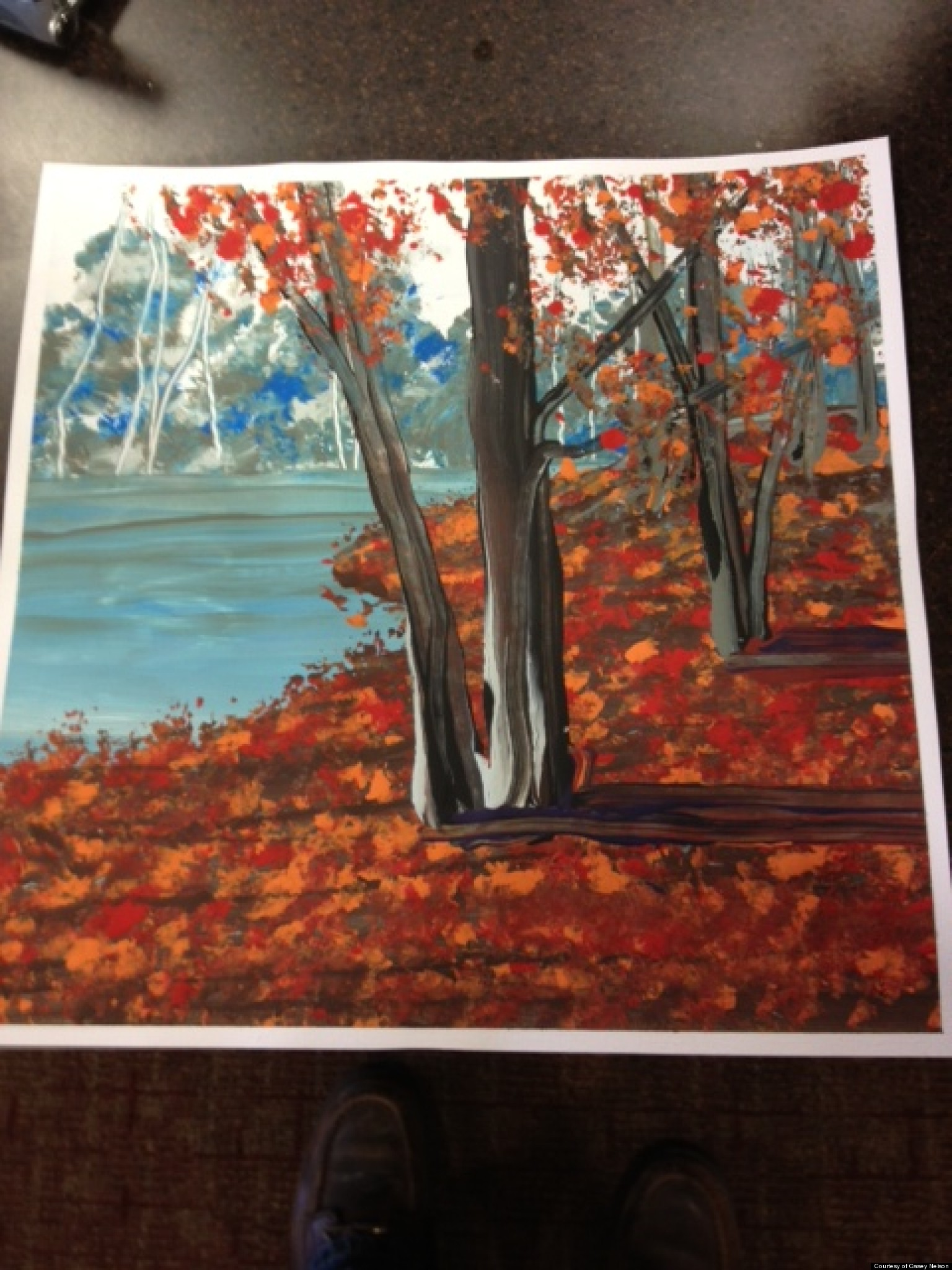 Grandmother Paints For The First Time In Her Life After