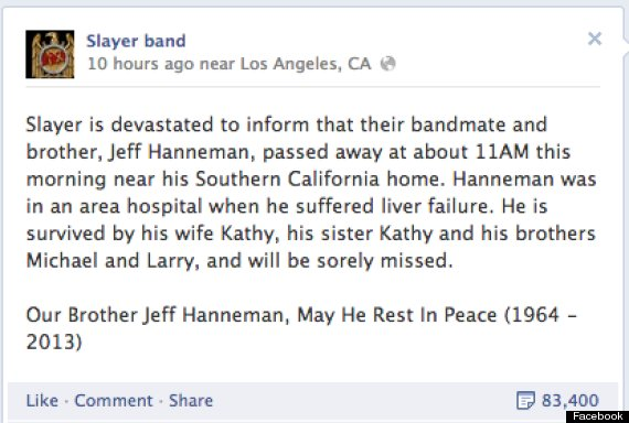 slayer facebook