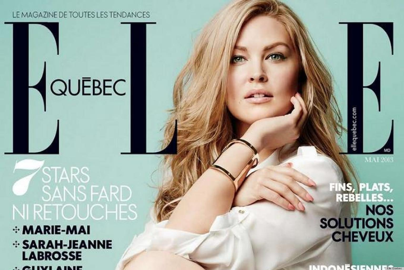 Elle Plus Size Model Elle Quebec's Plus-size Cover