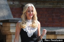 Denise Van Outen Is Chic In Monochrome Shift For Media Awards