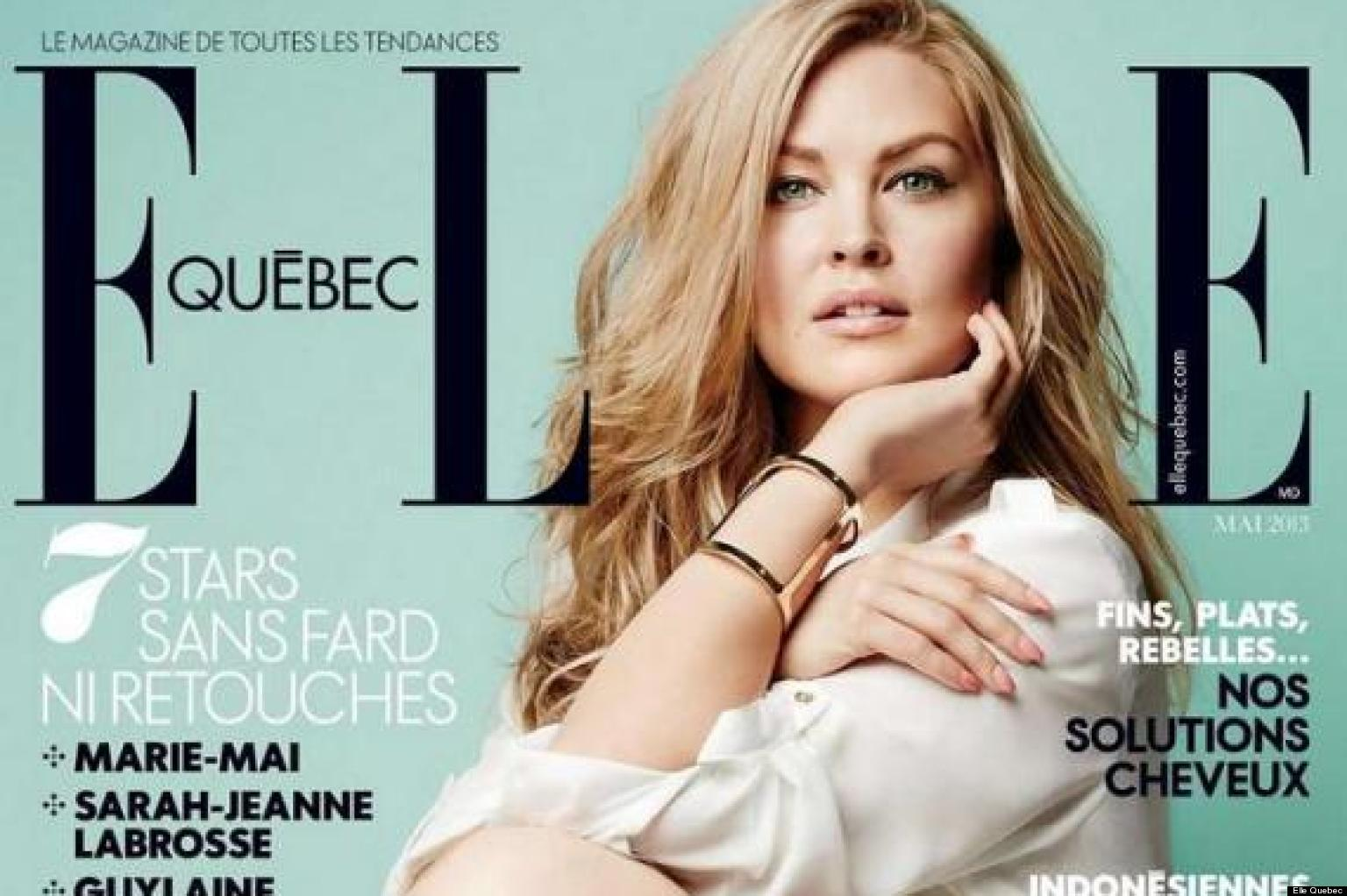 Elle Plus Size Model Elle Quebec Features Plus-size