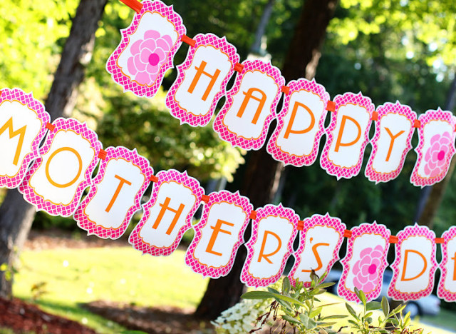 Printable Birthday Decorations Free ~ Mother's day 2013: set up your party with 7 free printable