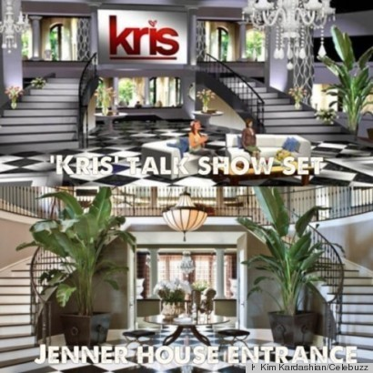 Kris jenner's new talk show set looks exactly like her home foyer