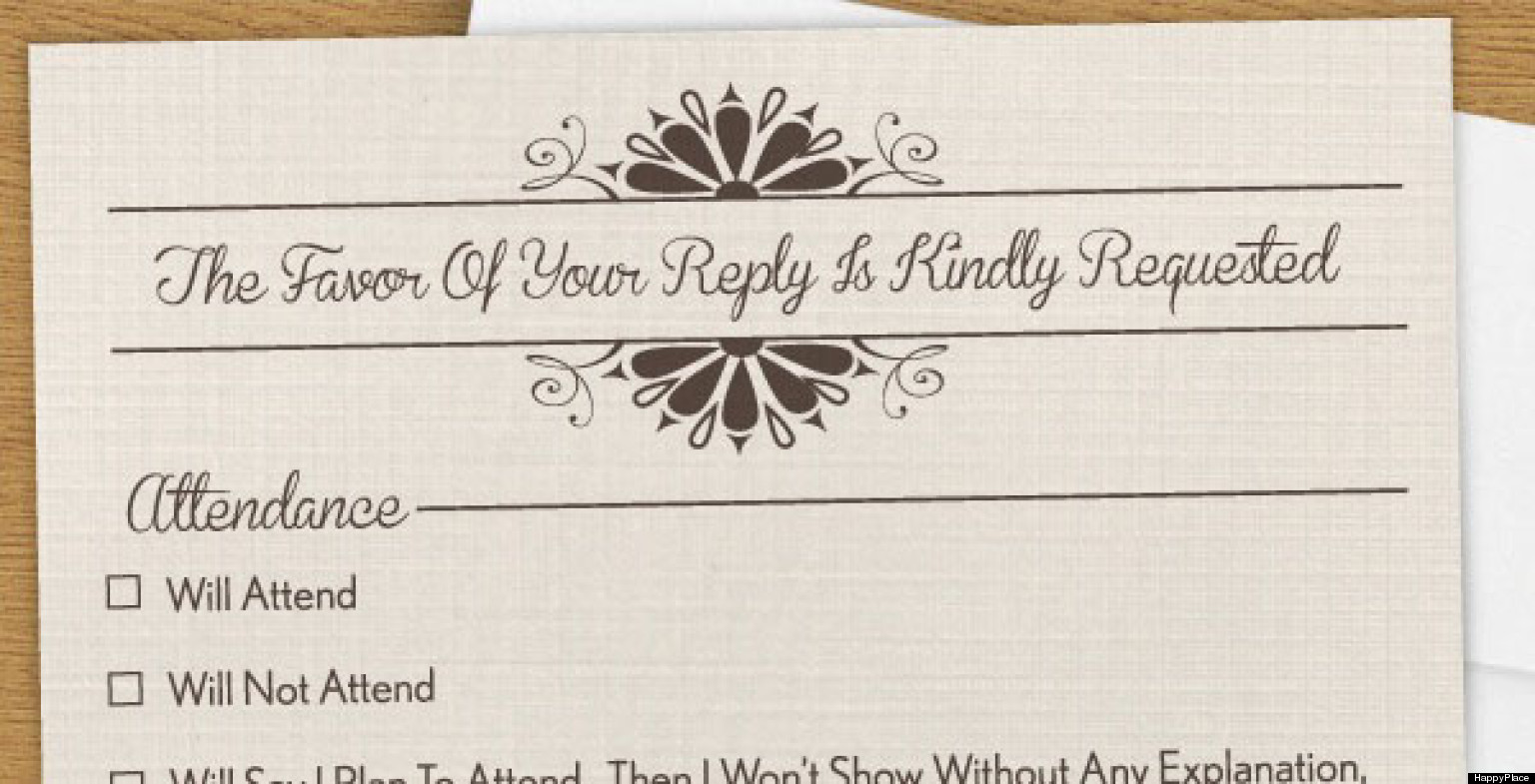 Funny Wedding Invitation Wording: Funny RSVP: The Invitation You Wish You Could Send (PHOTO