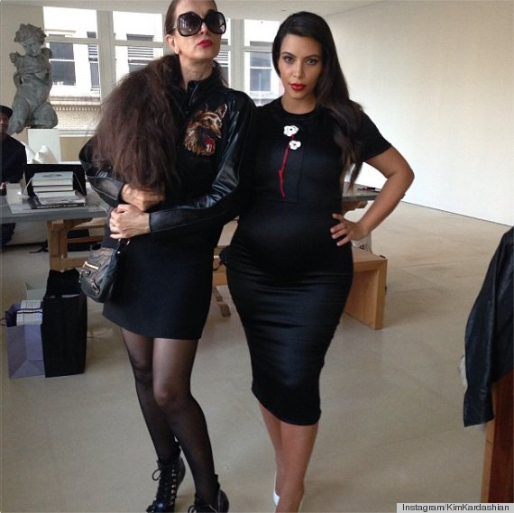 kim kardashian kanye west anna wintour