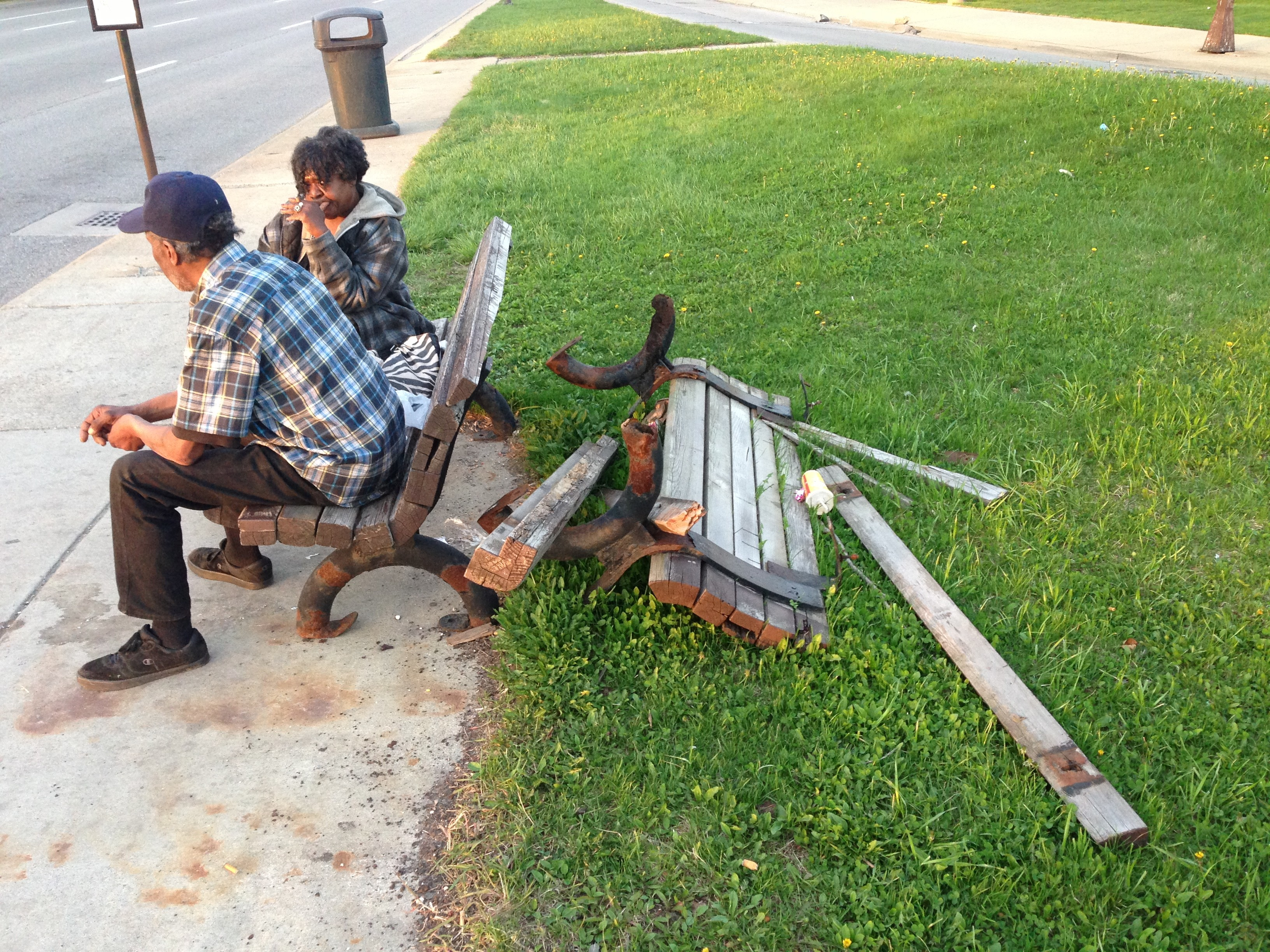 sit on it detroit vows to keep installing benches at bus stops