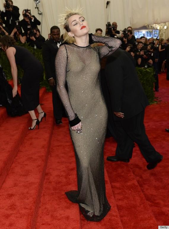 Miley Cyrus Dresses 2013 Miley Cyrus Met Gala 2013
