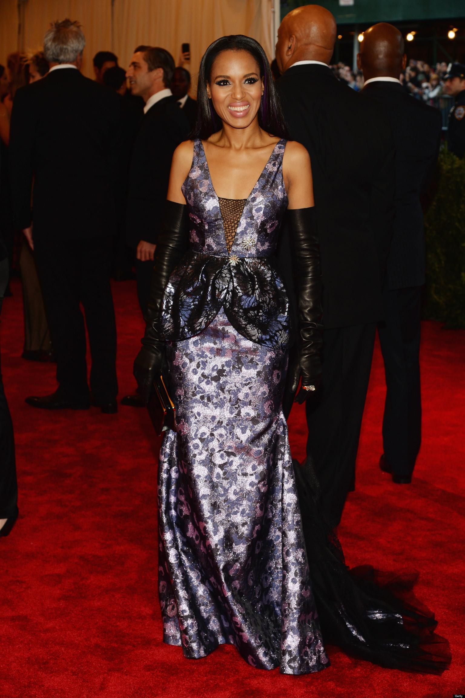 Kerry Washington Met Gala Dress 2013 Actress Rocks Vera