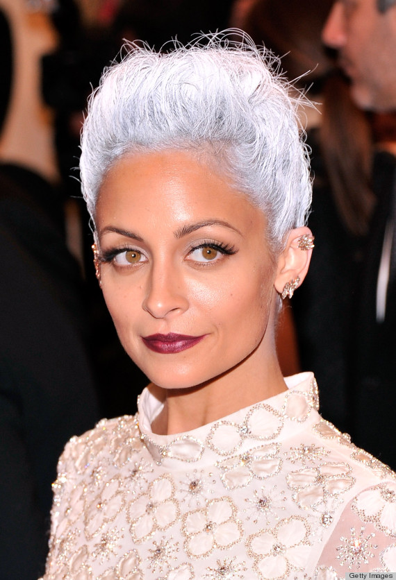 Nicole Richie Met Gala 2013 Grey Hair That S Eerily