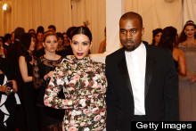 Kim Kardashian Embraces Punk Rock Petal At The Met Ball With Kanye