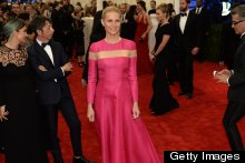 Gwyneth Paltrow Ignores The Punk Theme & Wears A Pink Valentino Gown To The Met Ball