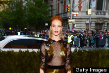 Supermodel Style: Rosie Huntington Whiteley & Cara Delevingne Strike A Punk Pose At Met Ball