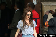 Victoria Beckham Flares Up For Eiffel Tower Trip