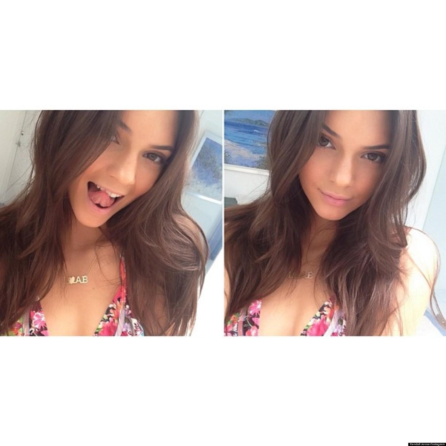 Kendall Jenner Shares Pics From Her Bikini Modeling Shoot
