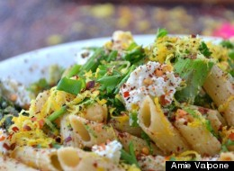Gluten-Free Goat Cheese & Lemon Parsley Pasta