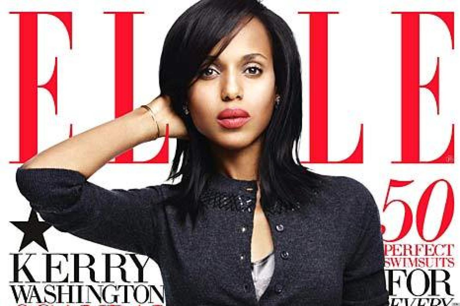 PHOTO: Kerry Washington's Elle Cover Has Finally Arrived!