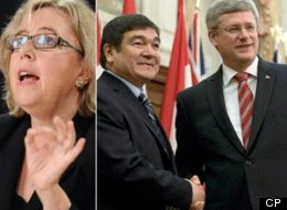 Elizabeth May Peter Penashue Harper