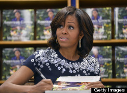 PHOTOS: Michelle Obama Stops By D.C. Bookstore