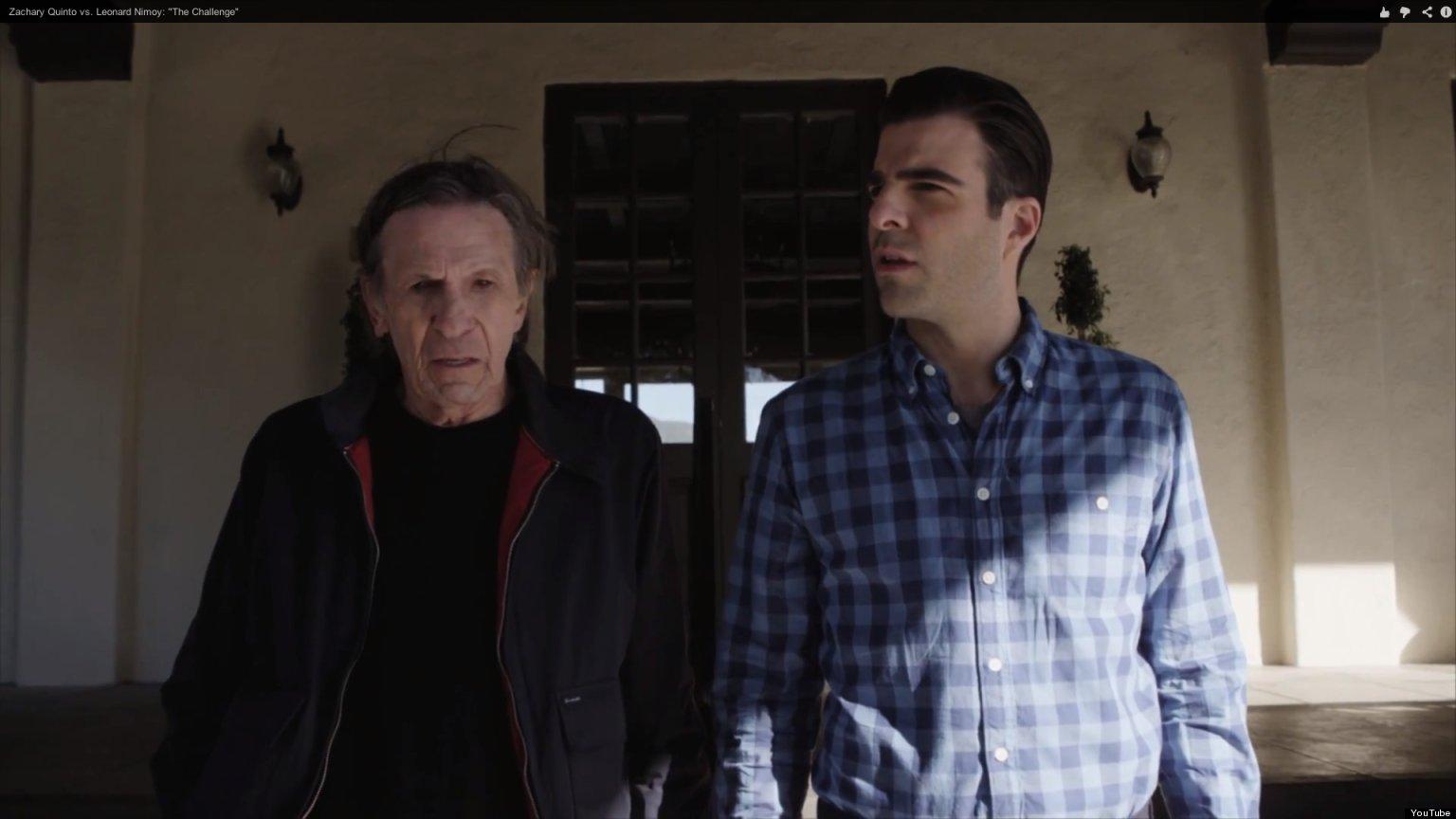 Spock VS Spock: Leonard Nimoy y Zachary Quinto juntos.