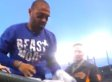 Matt Kemp Gives Fan Hat, Shoes and Jersey After Dodgers-Giants Game (VIDEO)