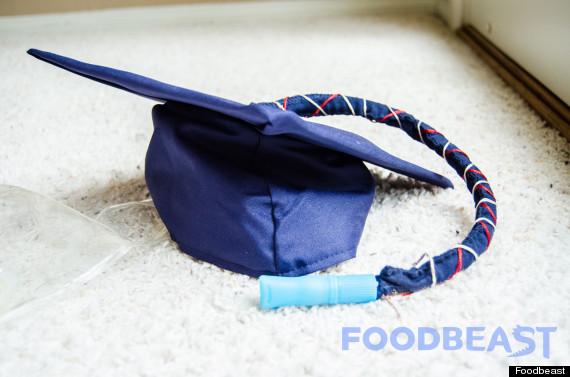 graduation cap flask