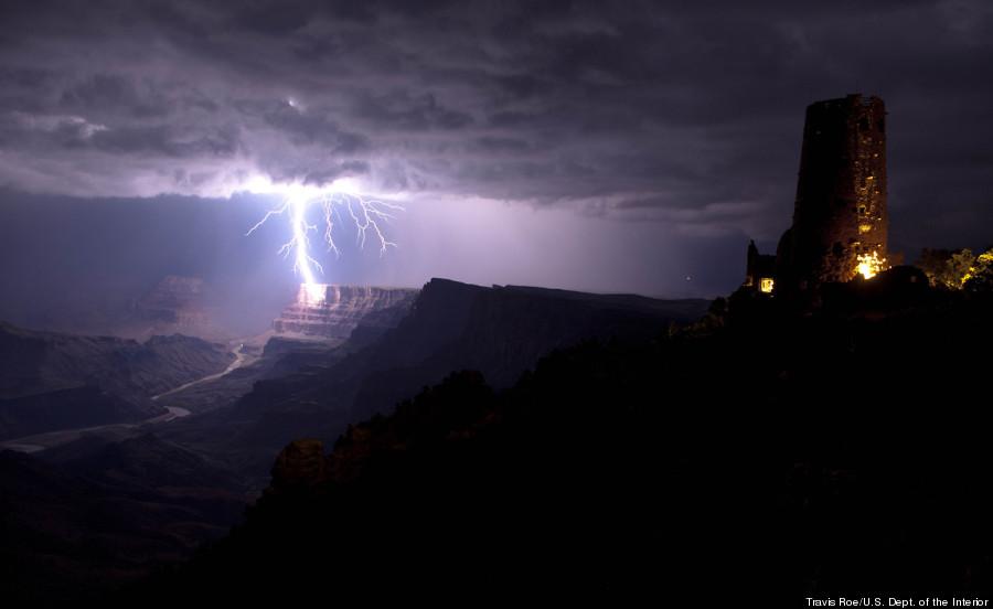 grand canyon lightning strike