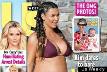 Hello, Bump! Kim Kardashian Covers US Weekly And Yes, She's In A Bikini