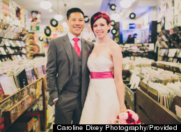 PHOTOS: DJ Duo Ties The Knot In AMAZING Record Store Wedding