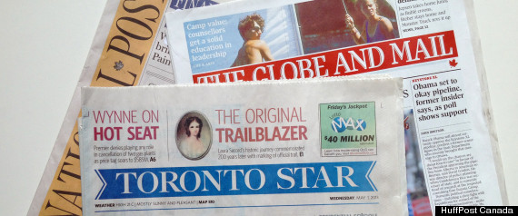 CANADA NEWSPAPERS PAYWALL
