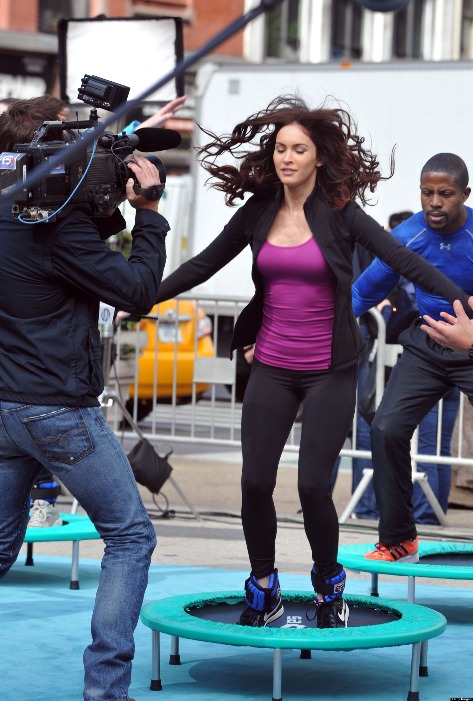 Megan Fox Films Trampoline Scene For 'Teenage Mutant Ninja ...