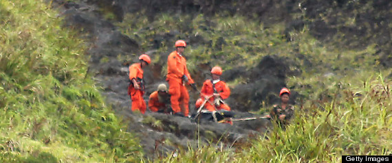 MAYON VOLCANO ERUPTION BODIES RECOVERED