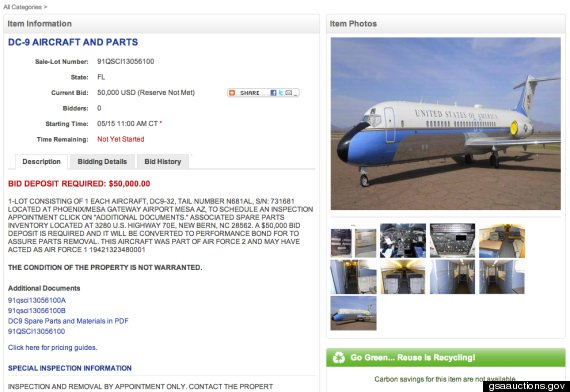 Air Force One For Sale: Government Selling Former Presidential Plane